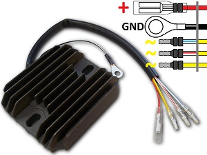 CARR101 - Suzuki GS Voltage regulator rectifier