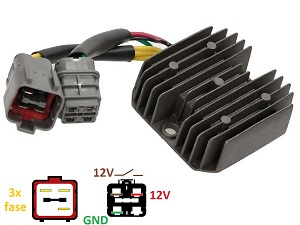 CARR691Griz Yamaha Grizzly 300 - MOSFET Voltage regulator rectifier