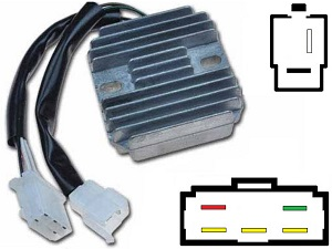 CARR331 - Kawasaki KZ750 MOSFET Voltage regulator rectifier