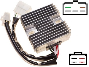CARR411 - Yamaha XJ1100 MOSFET Voltage regulator rectifier