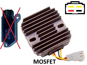 CARR421 - Yamaha 2 fase MOSFET Voltage regulator rectifier