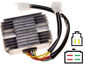 CARR521 Ducati MG 2-fase MOSFET Voltage regulator rectifier
