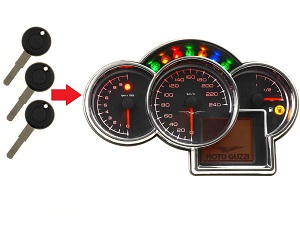 Moto Guzzi 3x transponder key → dashboard