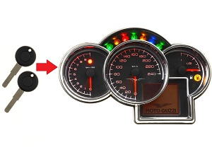 Moto Guzzi 2x transponder key → dashboard