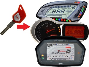 MV Agusta programmeren 1x transponder chip key → unit