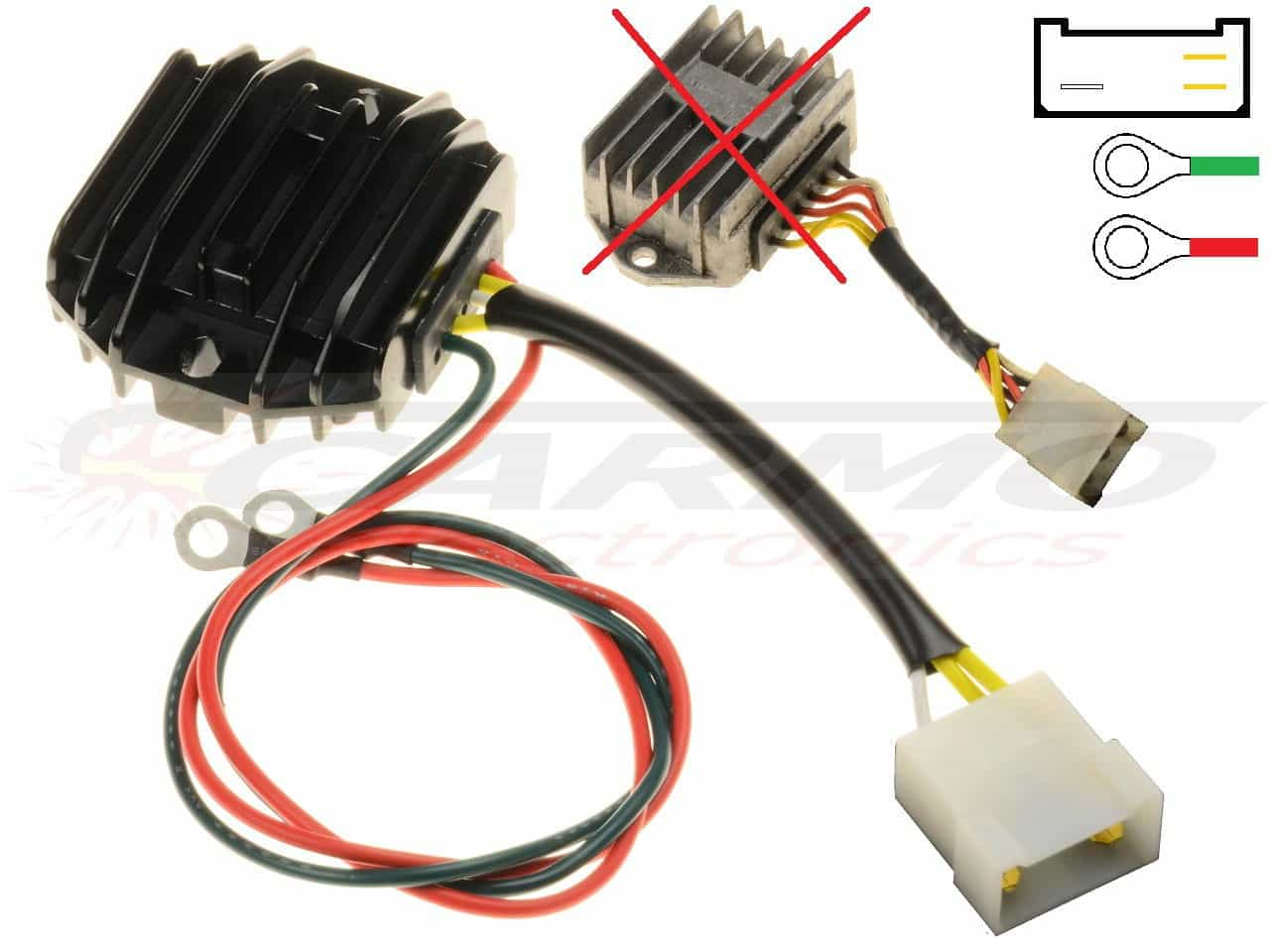 Magnificent Carr512 Ducati Paso Mosfet Voltage Regulator Rectifier Carr512 Wiring Database Gramgelartorg