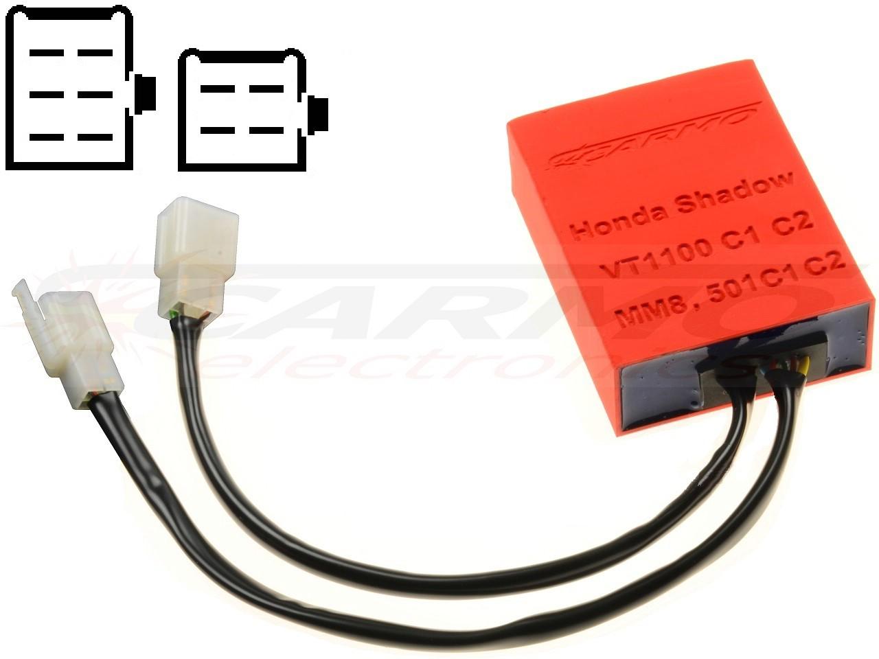 Honda VT1100 C1 C2 CDI ignitor (MM8, 501C1, 501C2) [VT1100 CDI MM8 on