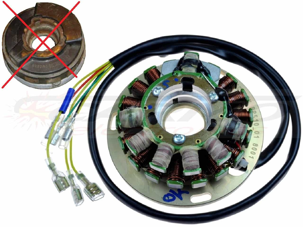 ST5051L - Lighting & Ignition Stator - Click Image to Close