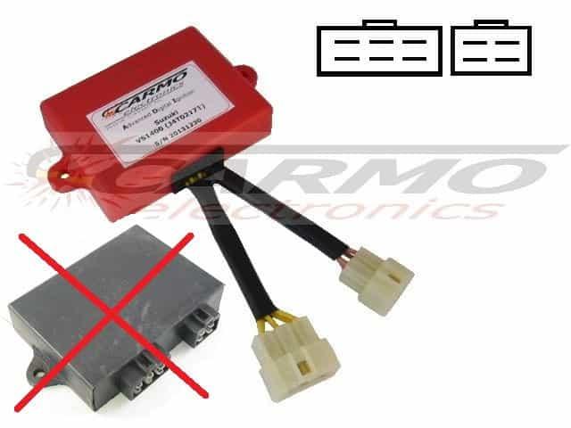 Suzuki VS1400 CDI J4T02171 J4T02471 6 + 4 pins connectors [VS1400