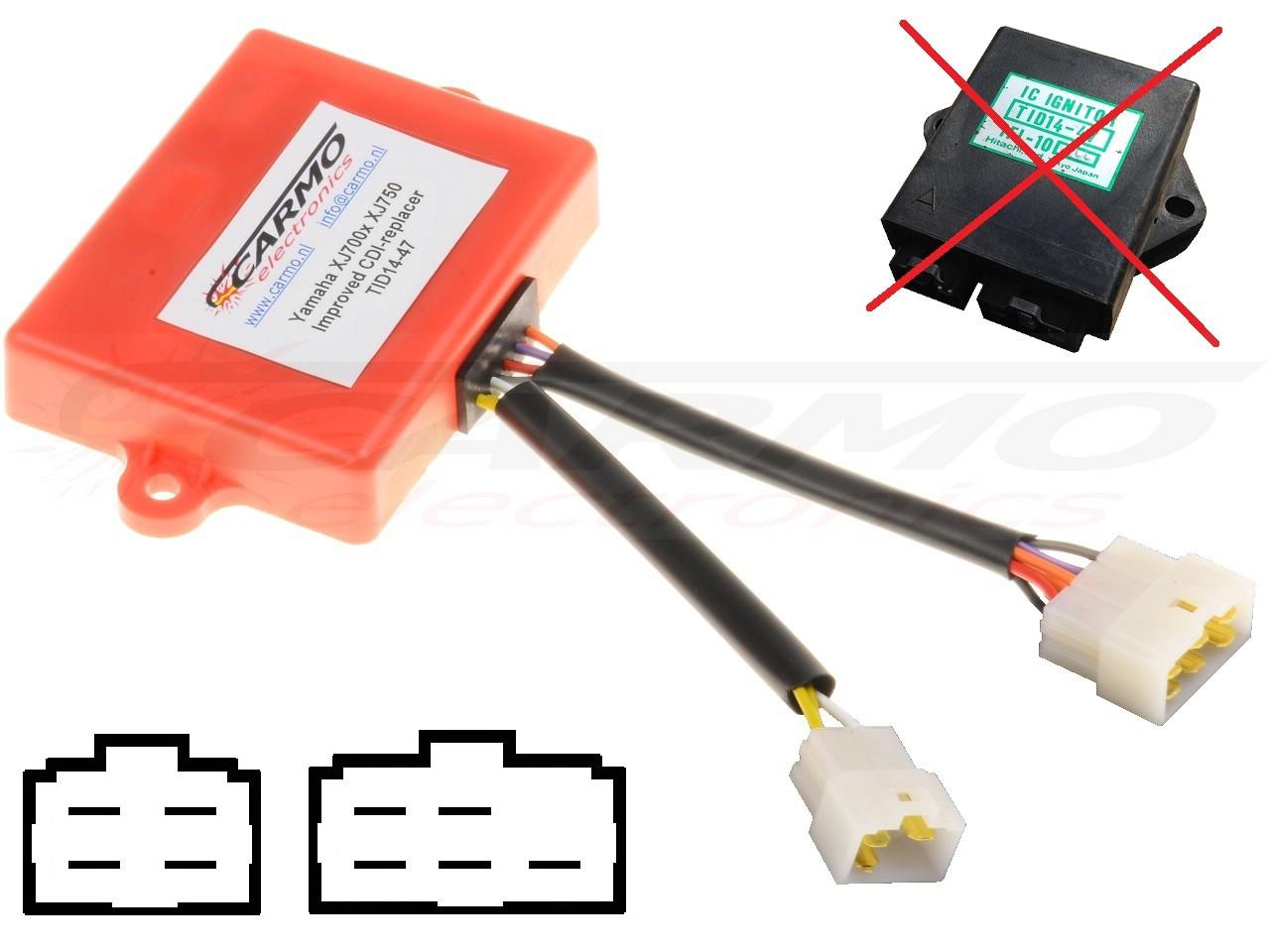 Tci Wiring Diagram Yamaha 750 Maxim Explained Diagrams Xj700 Cdi Igniter Tid14 44 47 1985 Custom