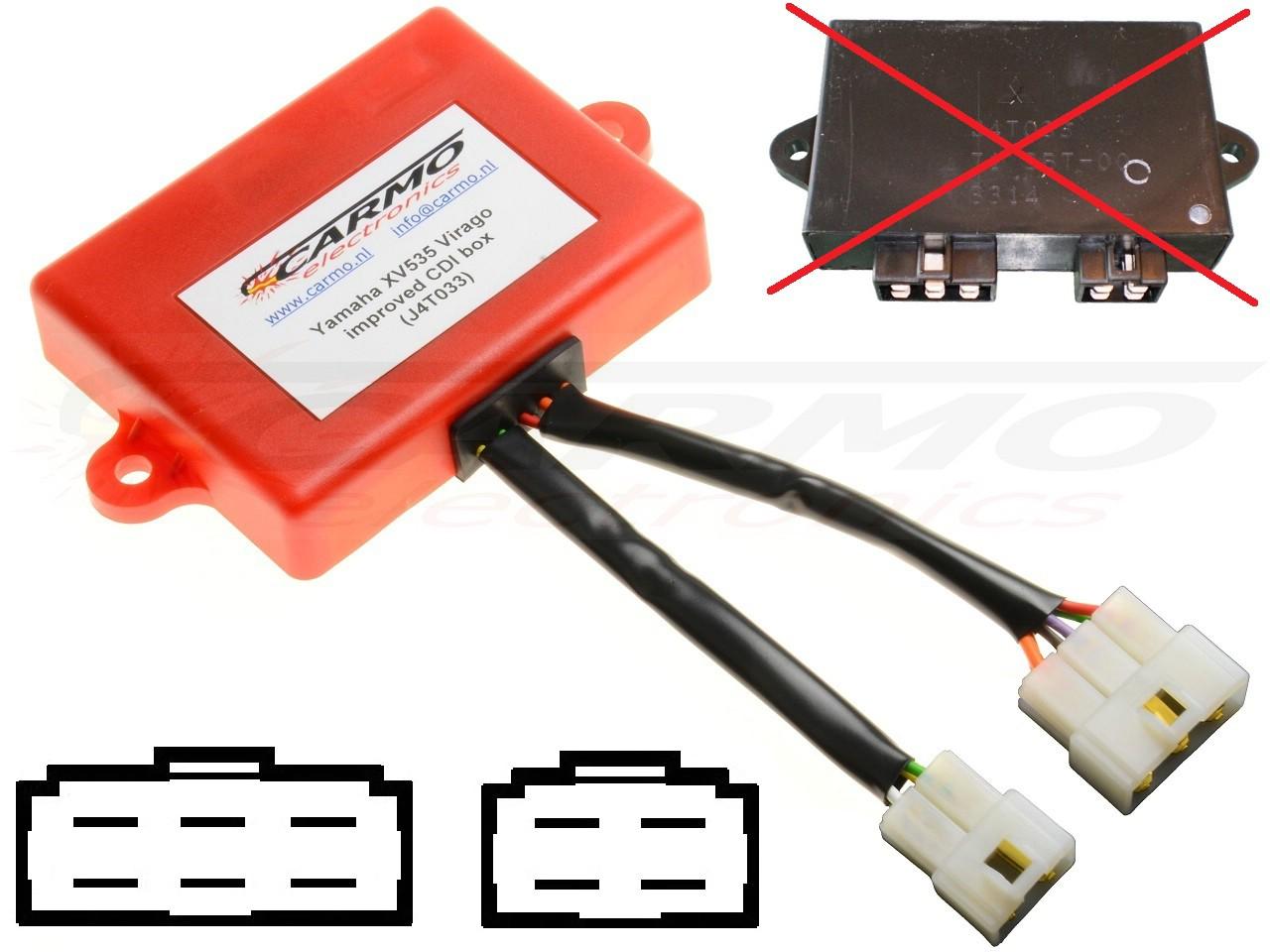 Yamaha XV535 Virago CDI igniter (J4T033, 3TB-00) [XV535 ... on