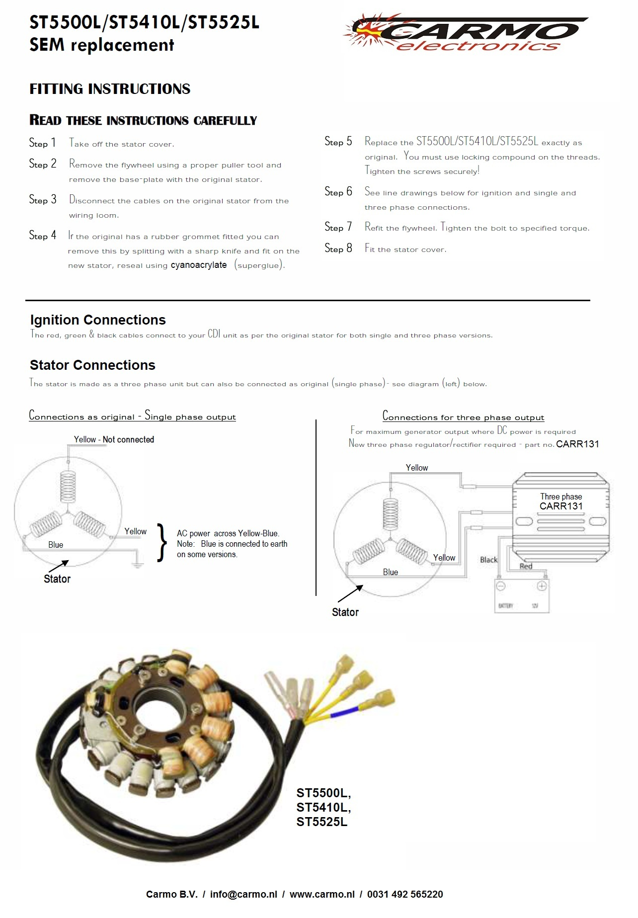 St5500l Lighting Ignition Stator 20850 Carmo Ktm 640 Lc4 Supermoto Wiring Diagram Team